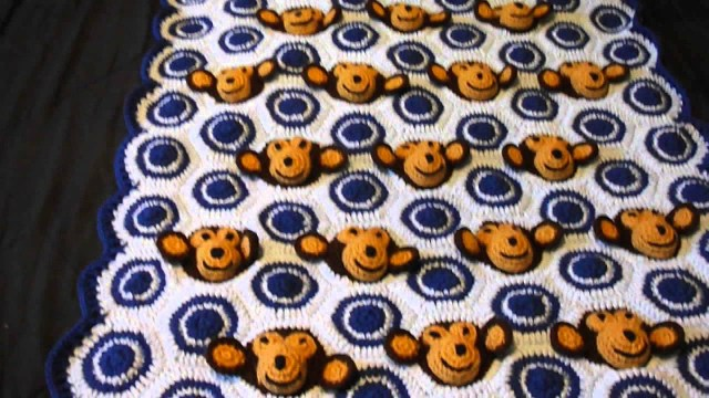 Crochet Monkey Blanket Pattern Monkey Blanket Youtube