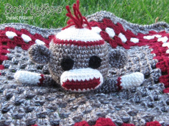Crochet Monkey Blanket Pattern Sock Monkey Lovey Crochet Pattern Instant Download Etsy
