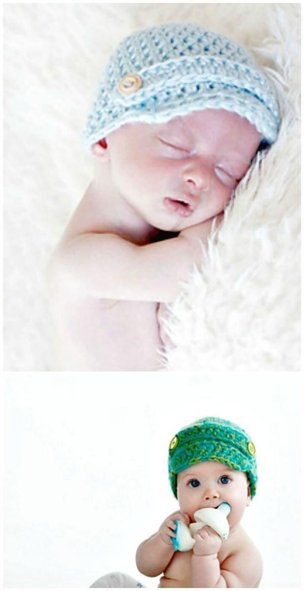 Crochet Newborn Newsboy Hat Pattern Free 15 Free Crochet Newsboy Hat Patterns Diy Crafts