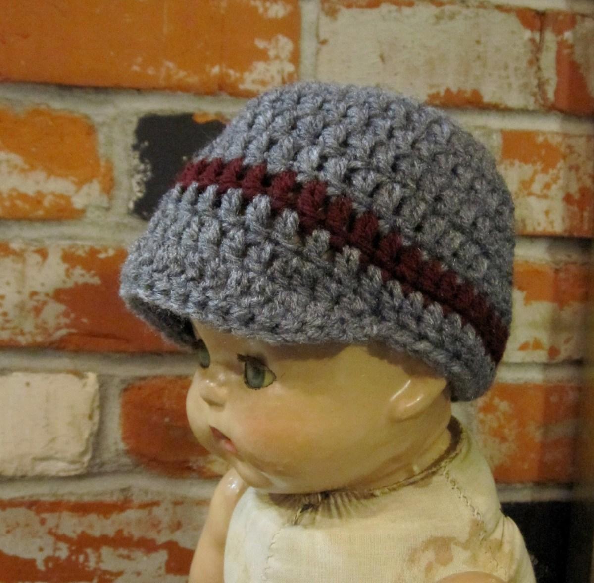 Crochet Newborn Newsboy Hat Pattern Free Breezybot Free Pattern Breezybot Newborn Newsboy