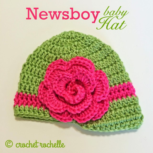 Crochet Newborn Newsboy Hat Pattern Free Crochet Rochelle Newsboy Ba Hat Pattern