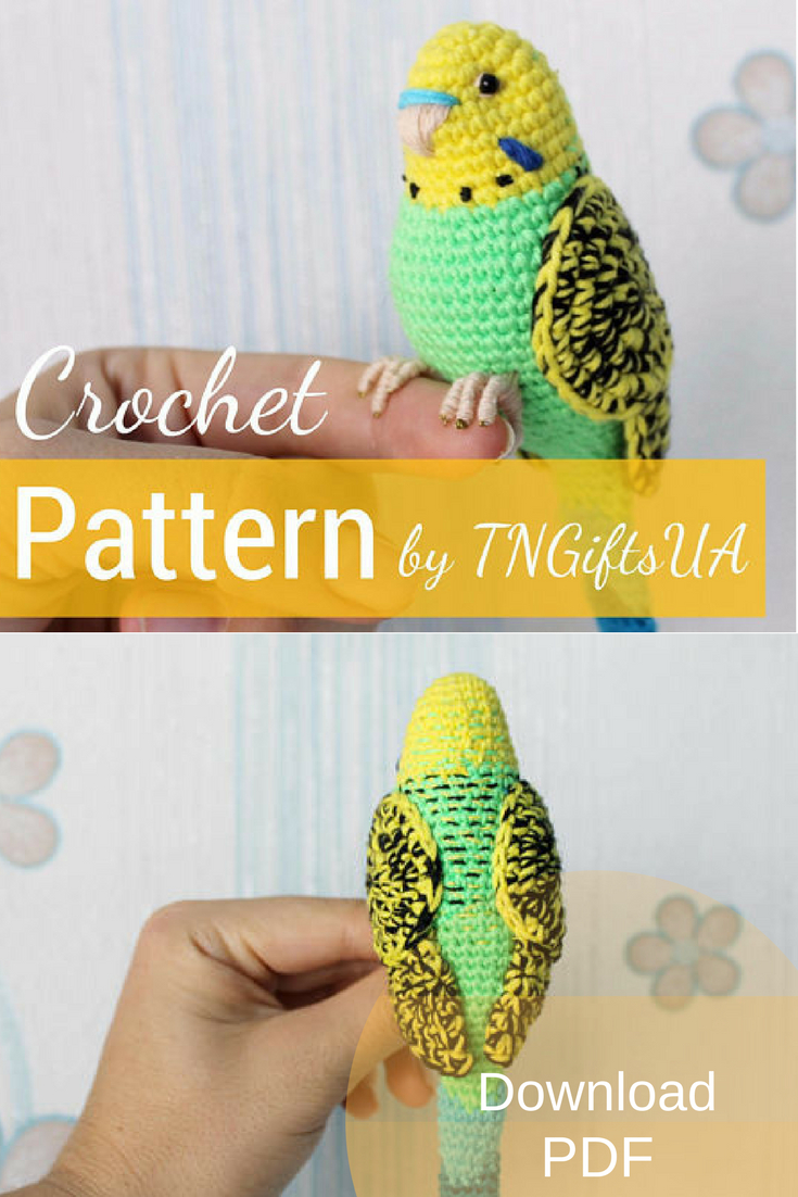 Pedro the Parrot crochet pattern - Amigurumi Today | 1102x735