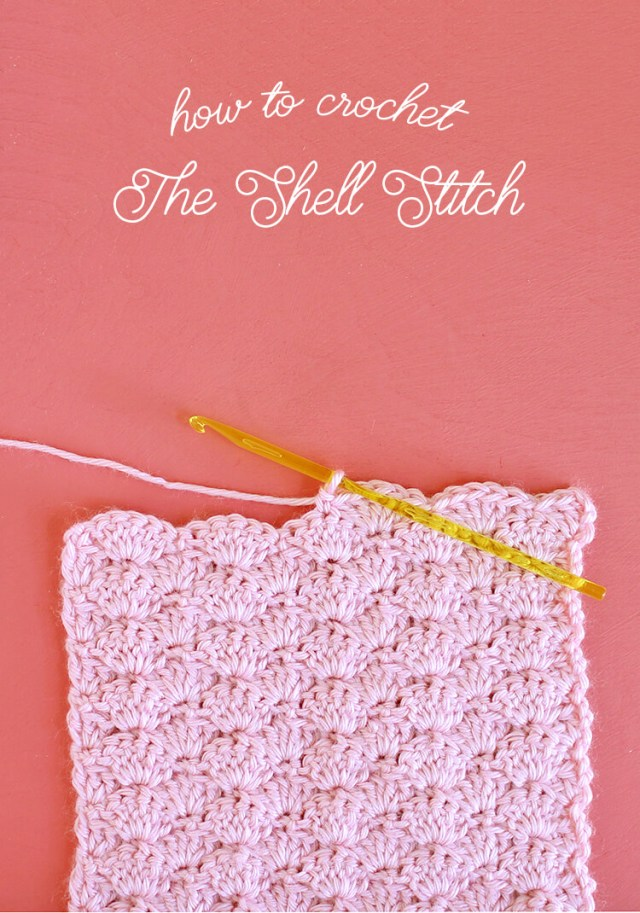 Crochet Shell Pattern Scarf How To Crochet The Shell Stitch For Beginners Persia Lou