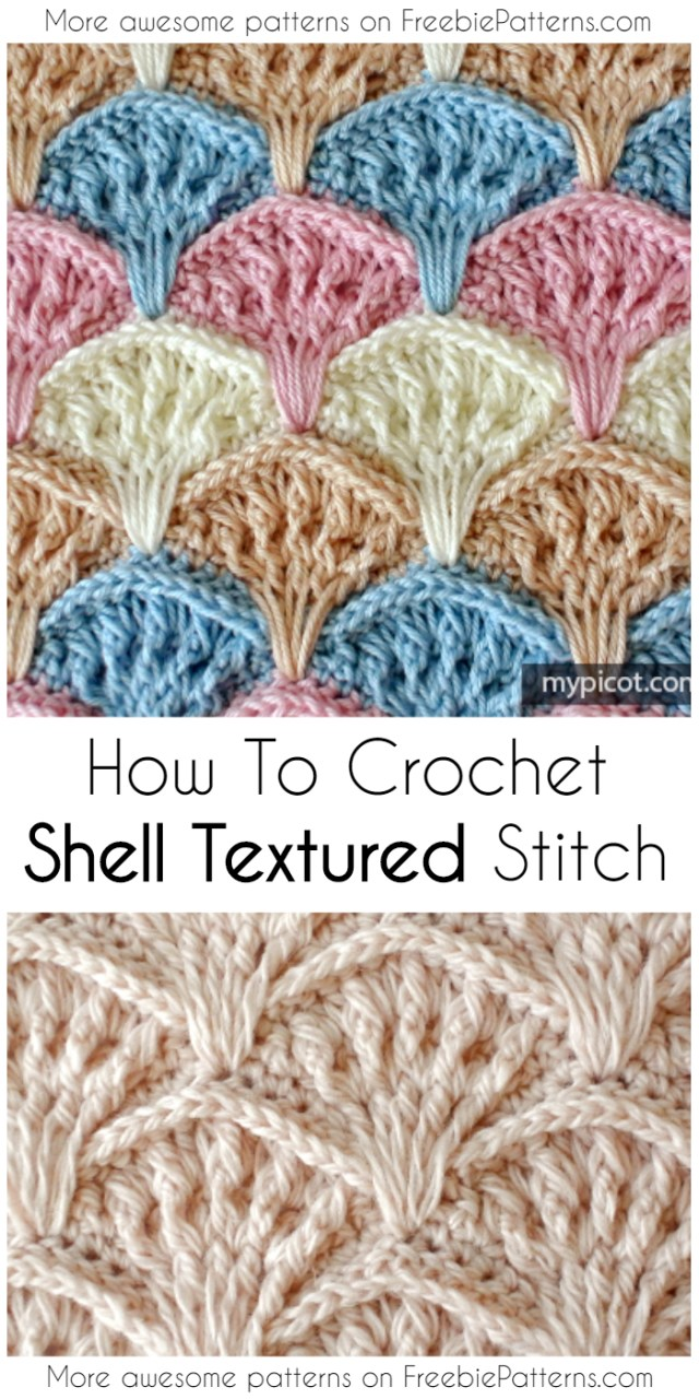 Crochet Shell Stitch Pattern How To Crochet Shell Textured Stitch Pattern Video Tutorial