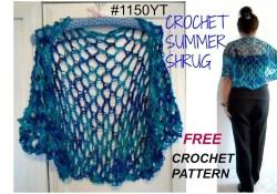 Crochet Shrug Plus Size Pattern Diy Crochet Summer Shrug Pattern Free Pattern 1150yt Small To