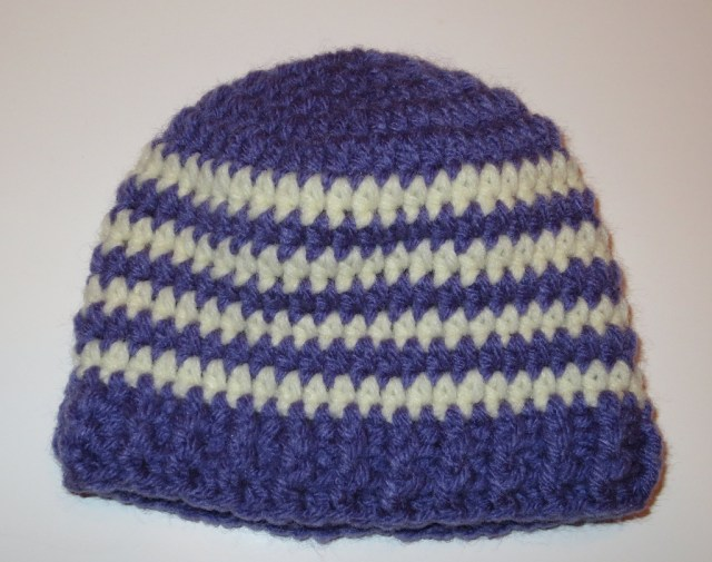 Crochet Striped Beanie Pattern Ba Ribbed Band Hats My Recycled Bags