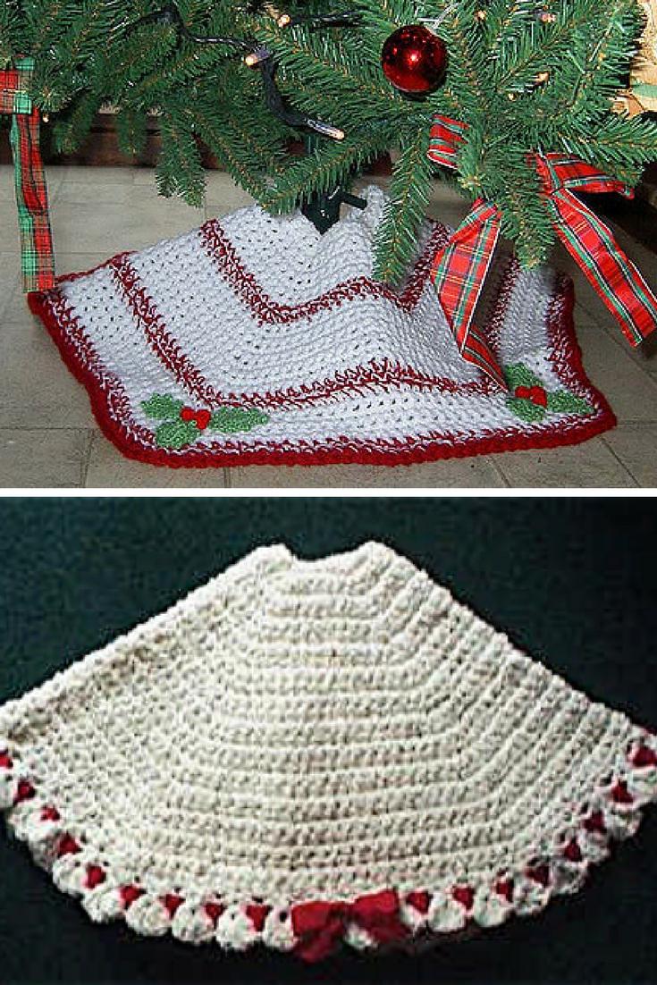 Christmas Tree Skirt Patterns Free.34 Brilliant Crochet Tree Skirt Pattern Crochetnstyle Com