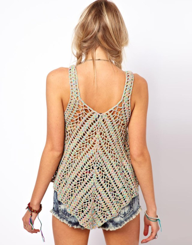 Crochet Vest Top Pattern Crochet Top Pattern Detailed Instructions In English For Every Row