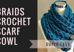 Easy Cowl Neck Scarf Crochet Pattern Braids Crochet Scarf Cowl Easy Perfect For Beginners Youtube