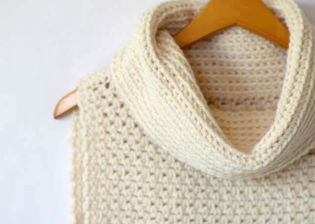 Easy Cowl Neck Scarf Crochet Pattern Easy Crochet Cowled Sweater Vest Mama In A Stitch