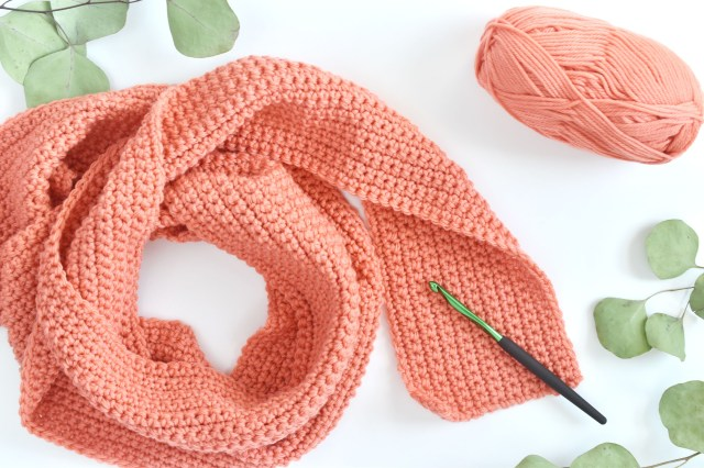 Easy Cowl Neck Scarf Crochet Pattern How To Crochet A Scarf For Beginners