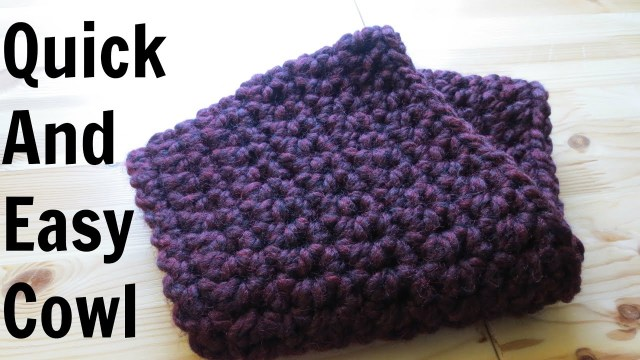 Easy Cowl Neck Scarf Crochet Pattern Quick And Easy Cowl Youtube