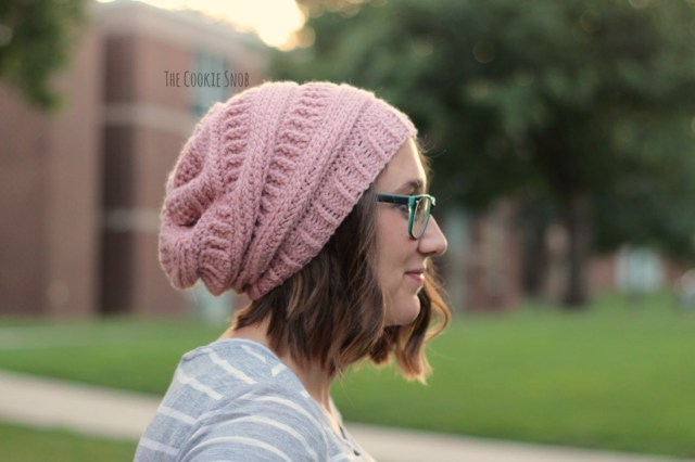 Easy Crochet Slouchy Hat Pattern 3 Ml Slouchy Beanie The Cookie Snob