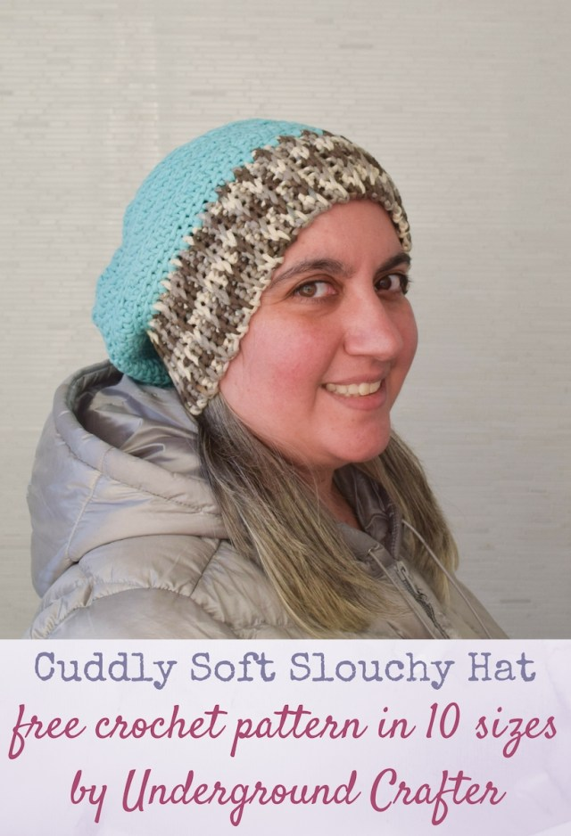 Easy Crochet Slouchy Hat Pattern Free Pattern Cuddly Soft Slouchy Hat In 10 Sizes Underground Crafter