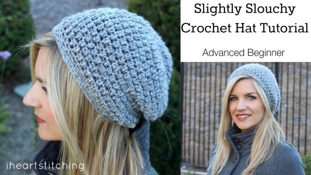 Easy Crochet Slouchy Hat Pattern Slightly Slouchy Crochet Hat Tutorial Youtube