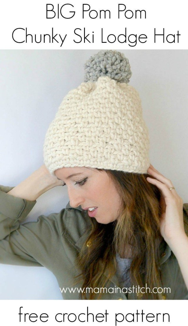 Free Crochet Hat Patterns For Adults Pretty Chunky Crochet Hat Free Crochet Pattern Mama Crochetholic