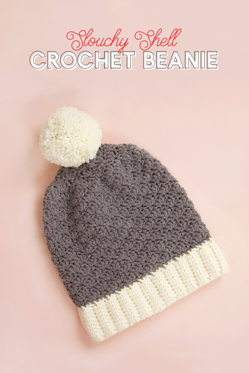 Free Crochet Hat Patterns For Adults Slouchy Shell Crochet Hat Pattern Free Crochet Beanie Pattern