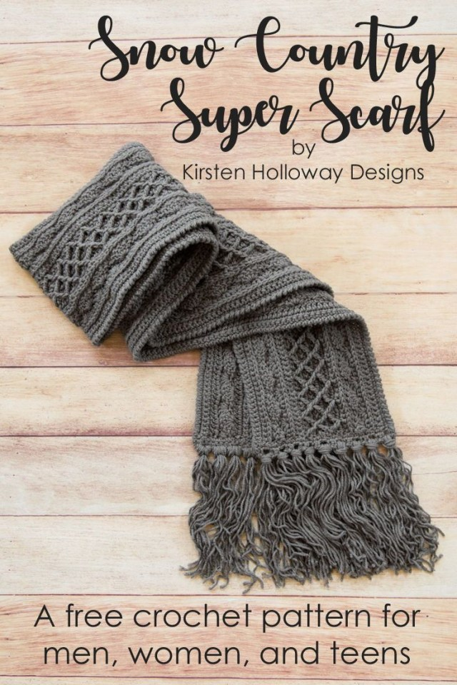 Free Crochet Patterns For Men Snow Country Super Scarf Free Unisex Crochet Pattern Knitting And