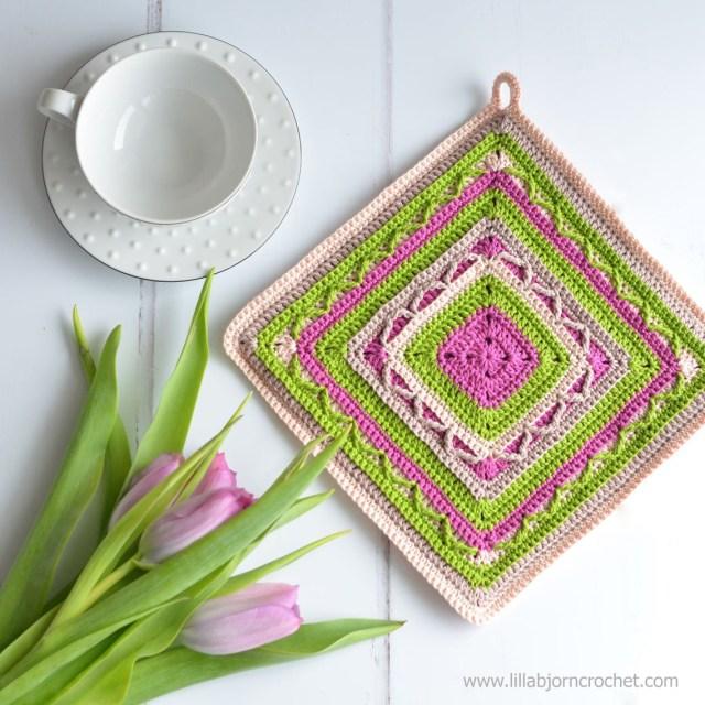 Free Crochet Potholder Patterns Crochet Potholders Art In Small Free Pattern Lillabjrns