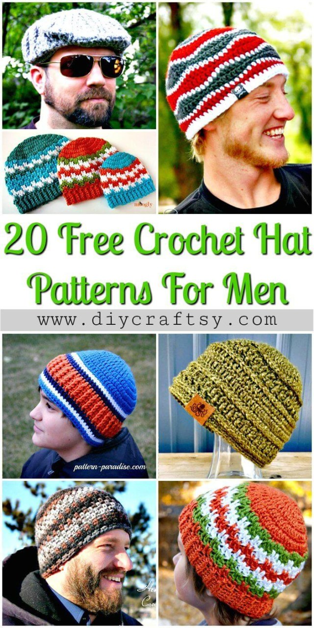 Free Hat Crochet Patterns 20 Free Crochet Hat Patterns That Adorable For Mens Diy Crafts