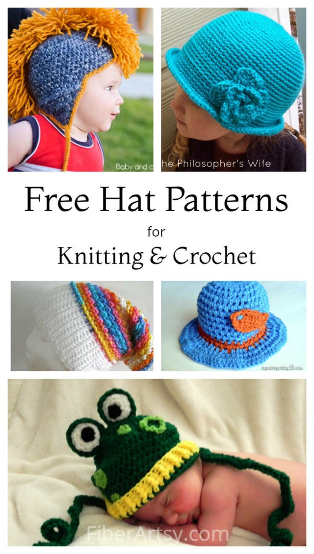 Free Hat Crochet Patterns 8 Free Hat Patterns For Knit And Crochet