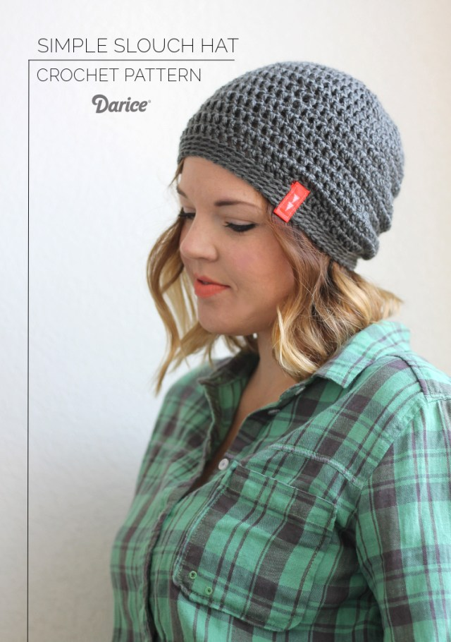 Free Hat Crochet Patterns Crochet Hat Pattern Free Slouch Pattern Darice