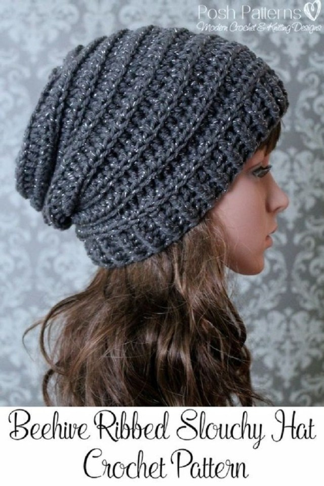 Free Hat Crochet Patterns Crochet Slouchy Hat Pattern 15 Easy And Free Crochet Patterns To