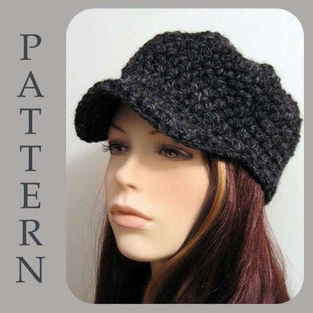 Free Hat Crochet Patterns Mens Brimmed Beanie Crochet Pattern Parchmentnlead