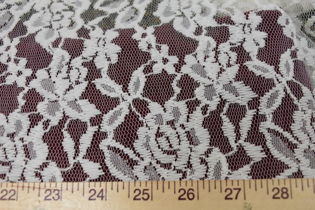 Lingerie Crochet Pattern Supersoft White Floral Crochet Mesh Stretch Lace Perfect For