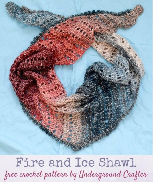 Lionbrand Com Free Crochet Patterns Fire And Ice Shawl Crochet Ideas Pinterest Crochet Crochet