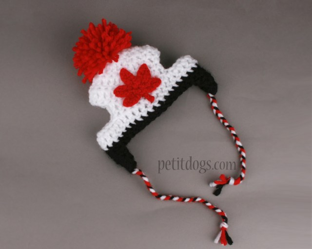 Puppy Dog Crochet Hat Pattern Crochet Canada Maple Leaf Dog Hat Proudly Canadian Pet It Dog Apparel