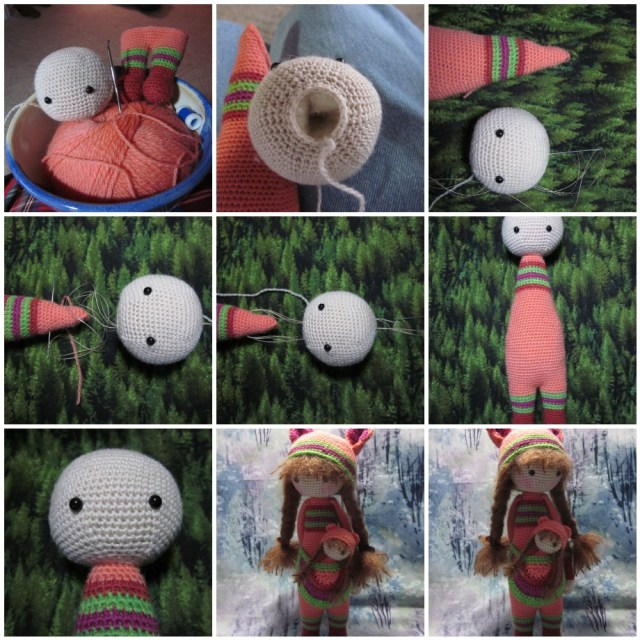 Simple Crochet Doll Pattern Hook Hand Adelaide And Little Alice
