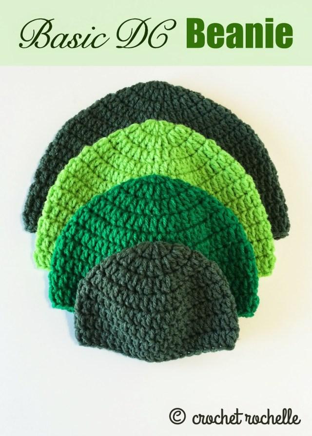 Simple Crochet Hat Pattern Crochet Rochelle Basic Dc Beanie Pattern