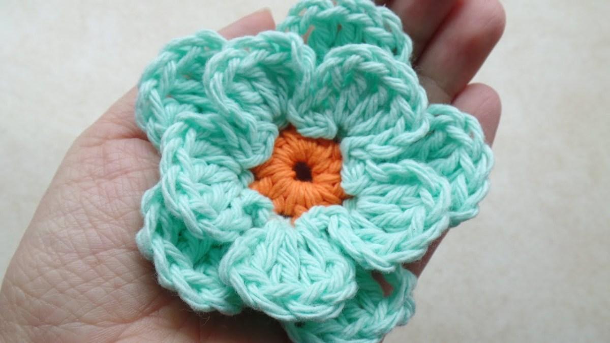 Simple Crochet Rose Pattern Crochet How To Crochet Easy Flower Tutorial 217 Youtube