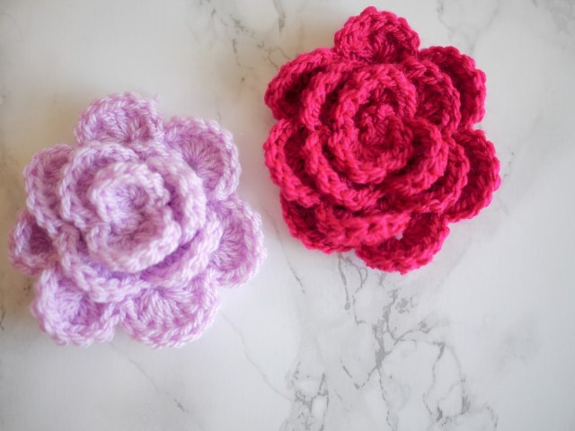 Simple Crochet Rose Pattern Crochet Rose Tutorial Bella Coco Sarah Jayne