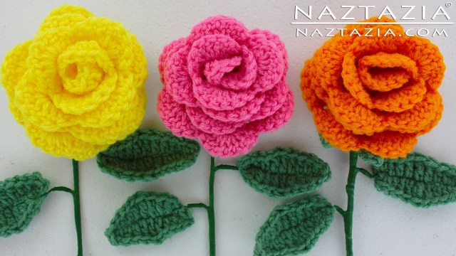 Simple Crochet Rose Pattern Diy Learn How To Crochet A Beginner Easy Flower Rose Rosas Bouquet