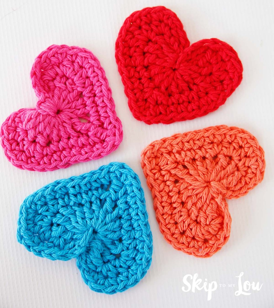 Simple Crochet Rose Pattern Easy Crochet Heart Garland Pattern Skip To My Lou