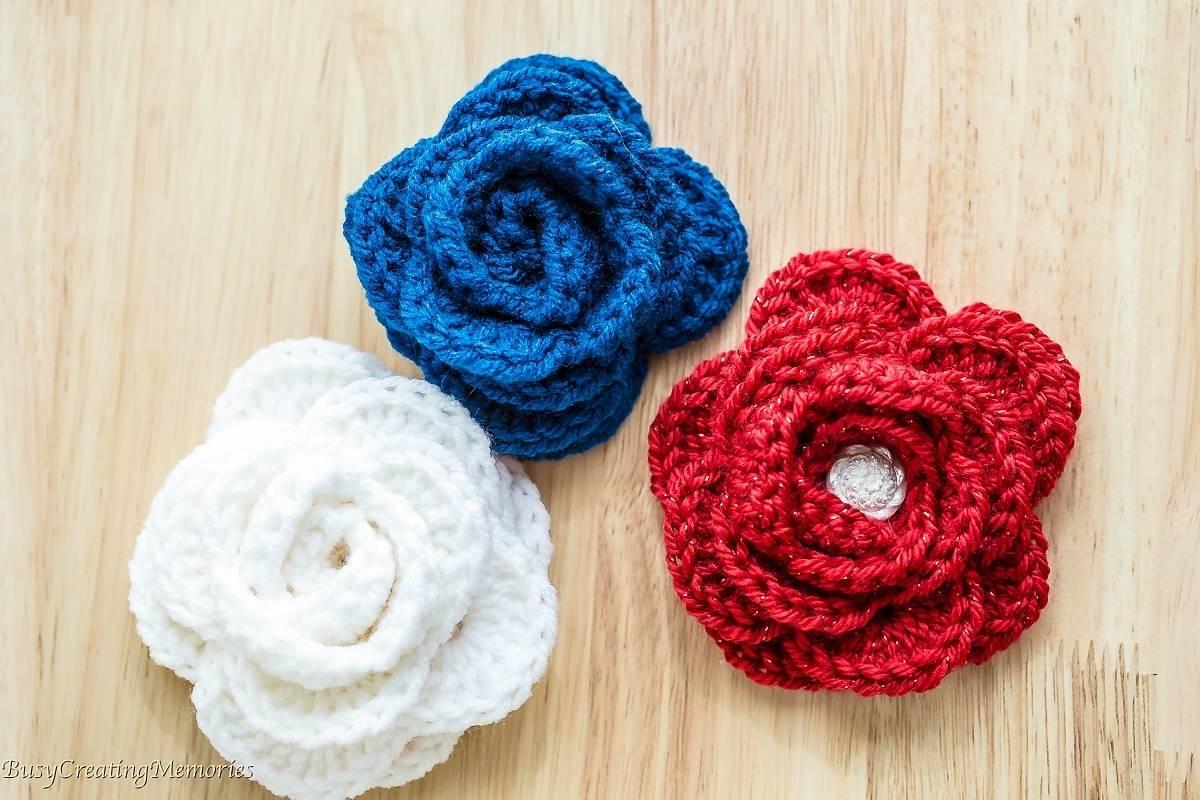 Simple Crochet Rose Pattern Free Easy Crochet Rose Pattern And Video Tutorial