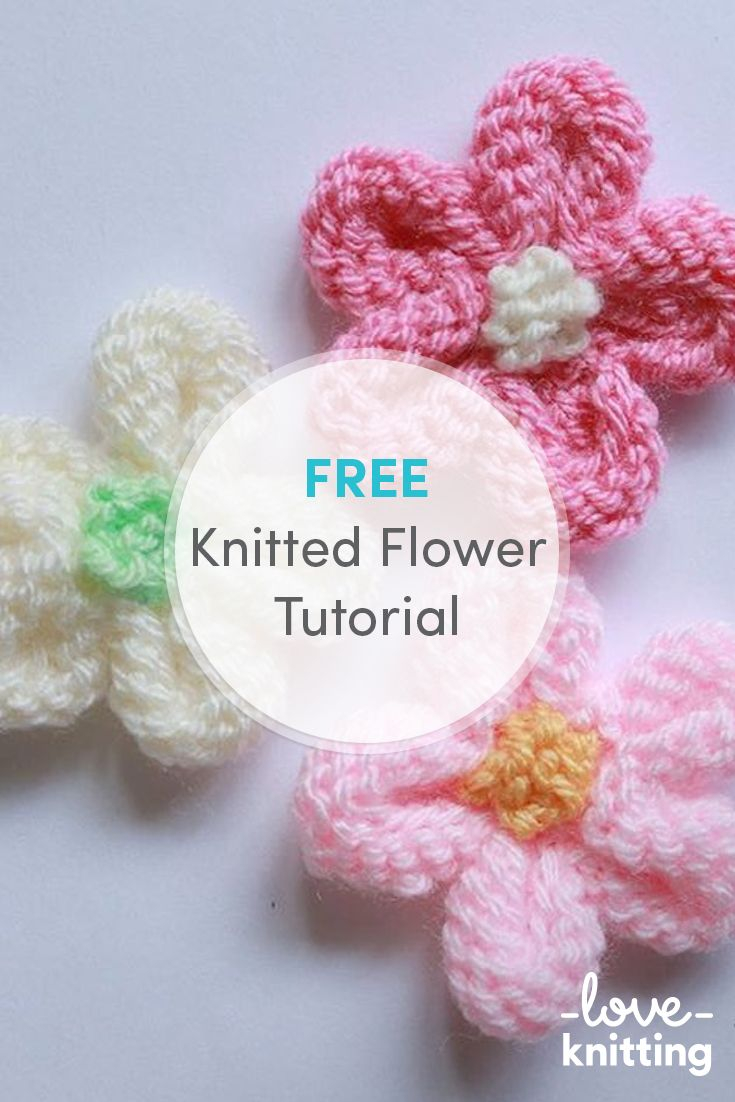 Simple Crochet Rose Pattern Knitted Flower Tutorial Free Free Knitting Patterns Knitted