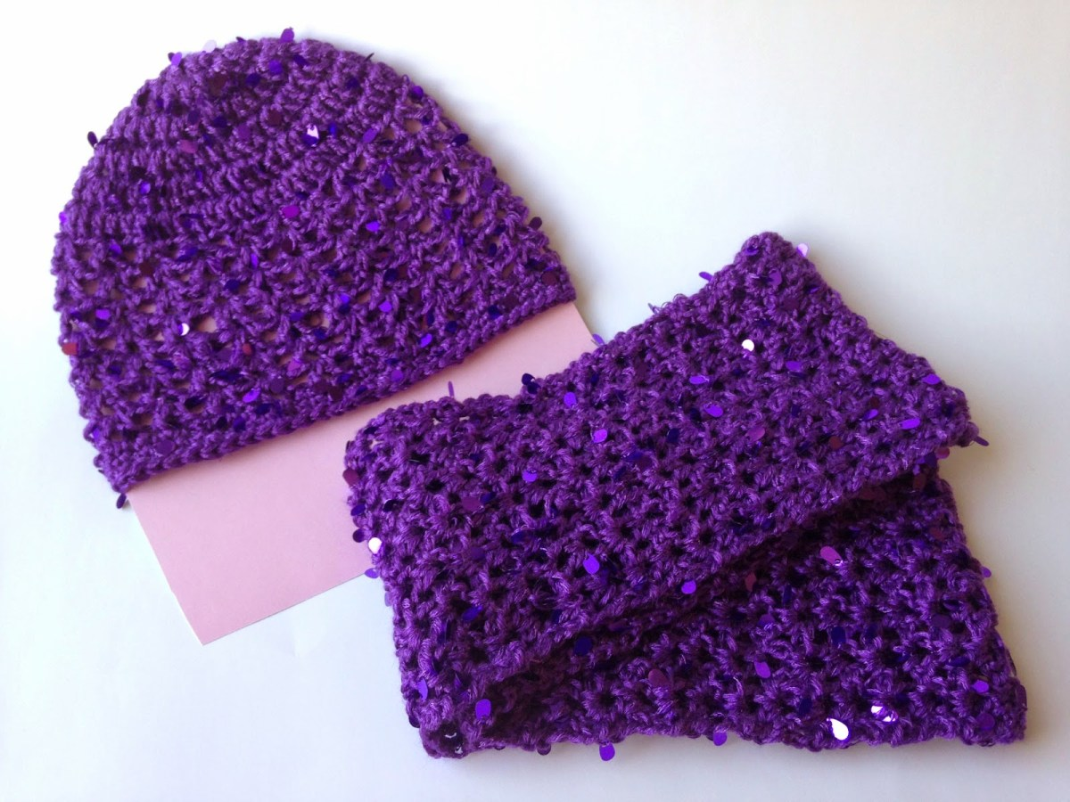 Snood Scarf Crochet Pattern 5 Little Monsters Sparkle Hat And Scarf Set Free Child Size