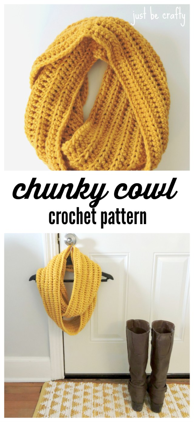 Snood Scarf Crochet Pattern Chunky Crochet Cowl Pattern Free Pattern Just Be Crafty