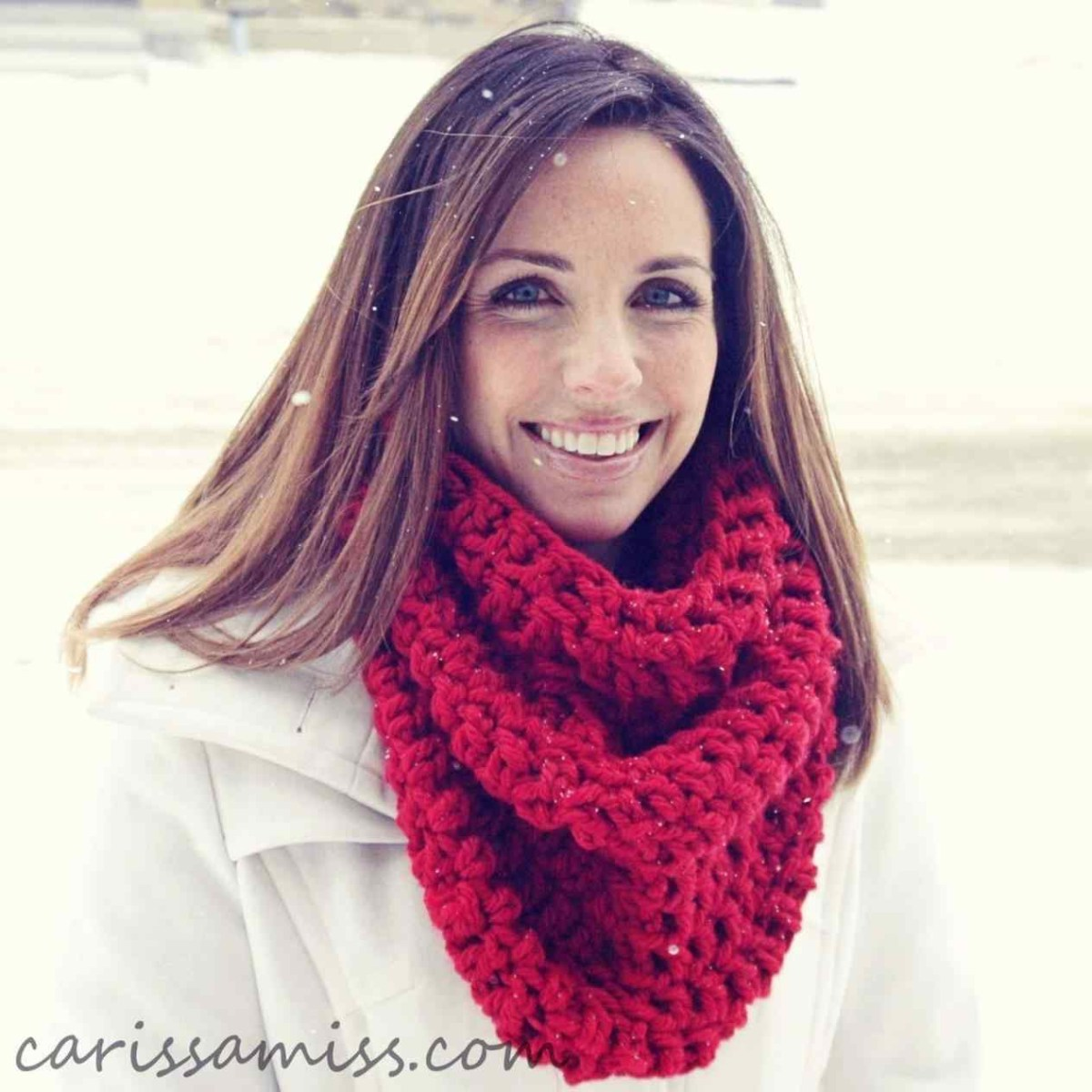 Snood Scarf Crochet Pattern Chunky Infinity Scarf Crochet Pattern Bulky Yarn Diamond