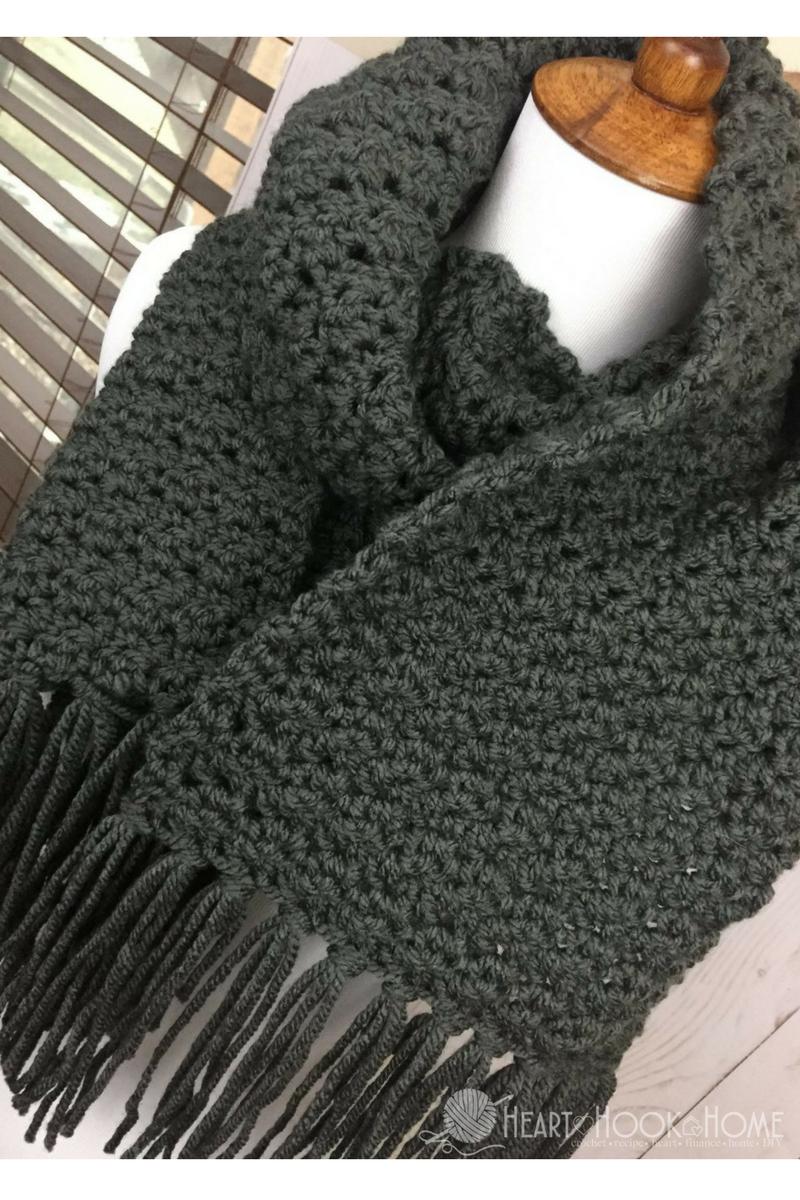 Snood Scarf Crochet Pattern Simple Scarf For Men Free Crochet Pattern