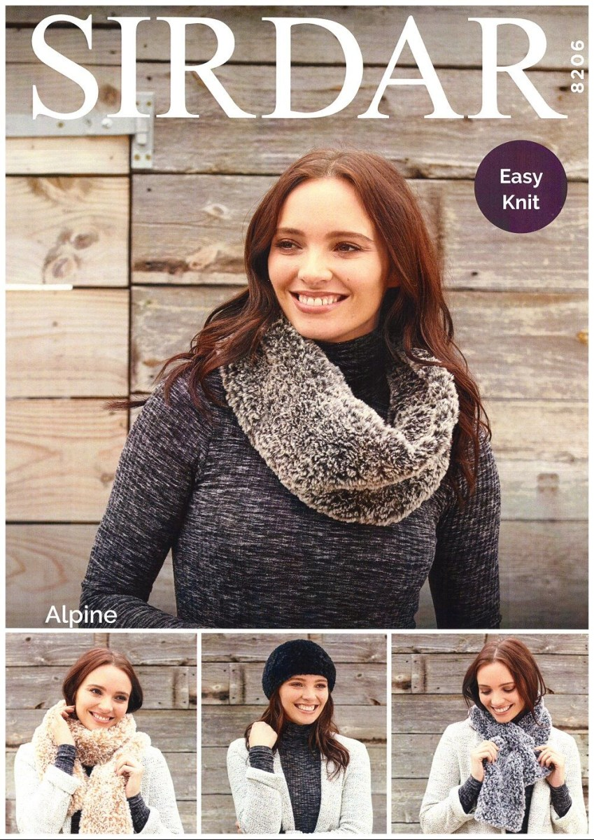 Snood Scarf Crochet Pattern Sirdar Ladies Hat Snood Scarf Tippet Knitting Pattern In Alpine