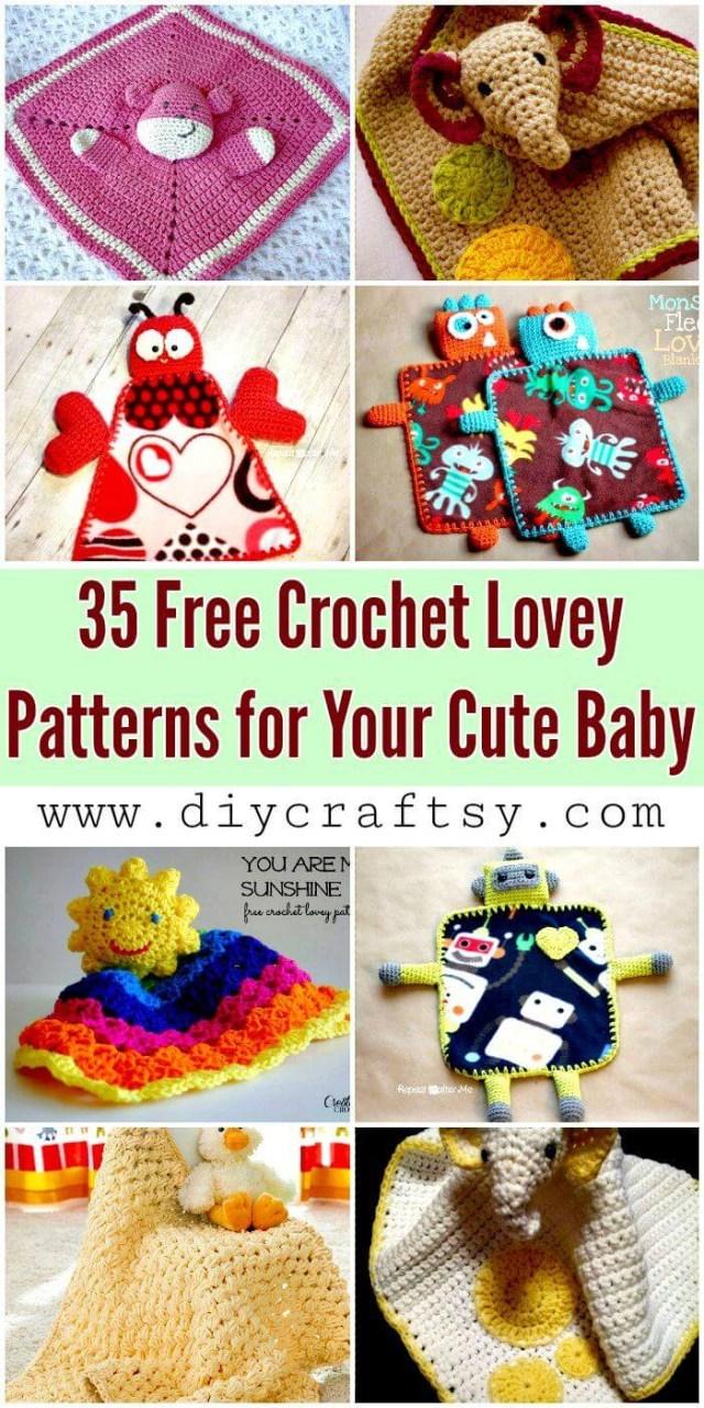 Star Shaped Crochet Blanket Pattern 35 Free Crochet Lovey Patterns For Your Cute Ba Diy Crafts