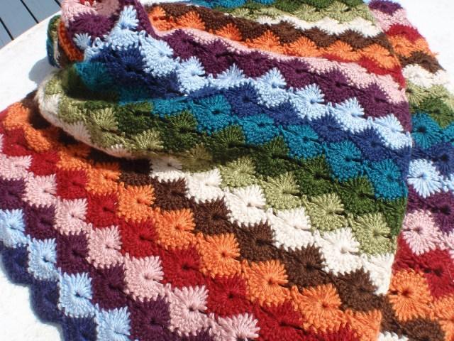 Star Shell Afghan Crochet Pattern Star Shell Afghan Janet Jarosh Free Crochet Pattern Ravelry