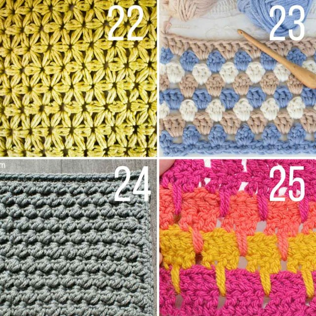 Unusual Crochet Patterns 30 Crochet Stitches For Blankets And Afghans Many With Video