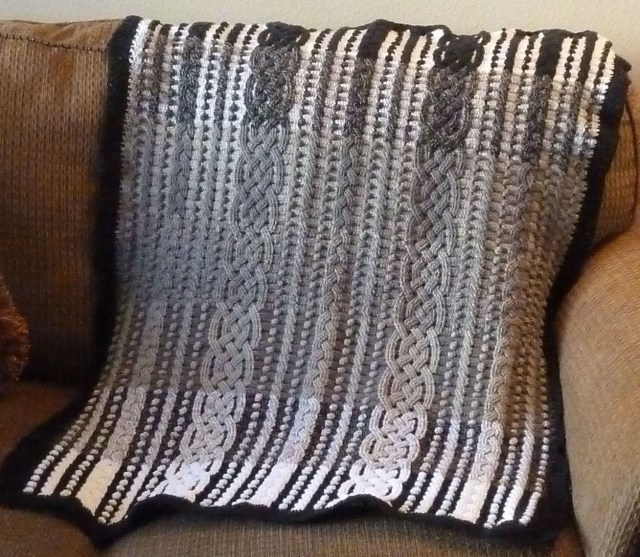 Unusual Crochet Patterns Gradient Cable Braided Crochet Aran Afghan Blanket Pattern Etsy