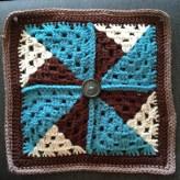 Crochet Pinwheel Afghan Square 1