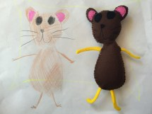 Plushie from Kid's Drawing